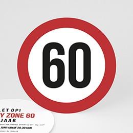 Uitnodigingen Verjaardag - Maximum snelheid 60 - 0