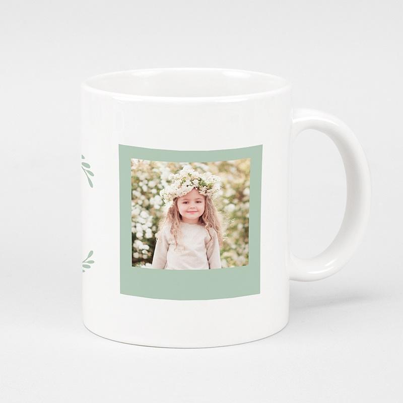 Gepersonaliseerde Fotomokken Moederdag Love Mom, 2 Foto's