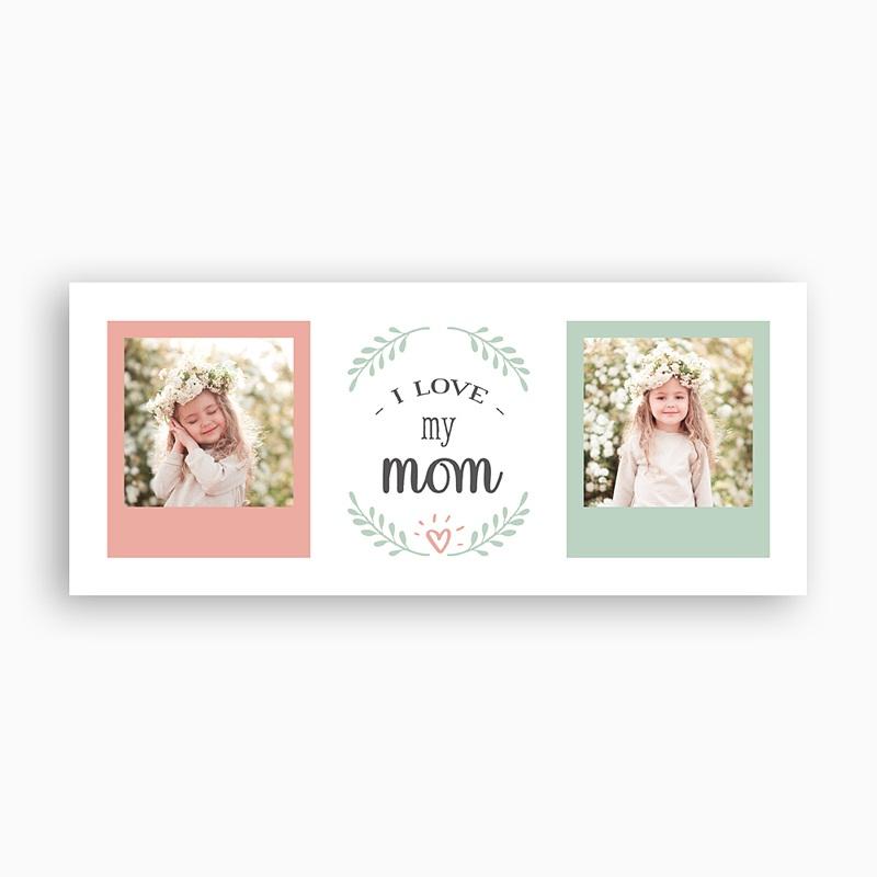 Gepersonaliseerde Fotomokken Moederdag Love Mom, 2 Foto's pas cher