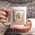 Gepersonaliseerde Fotomokken Moederdag Love Mom, 2 Foto's gratuit