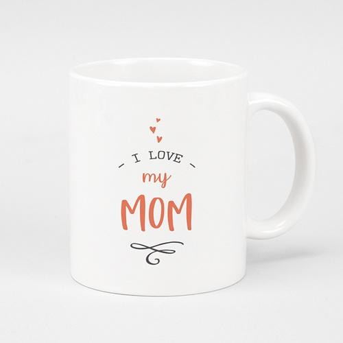Gepersonaliseerde Fotomokken Moederdag Love my Mom, 3 foto's