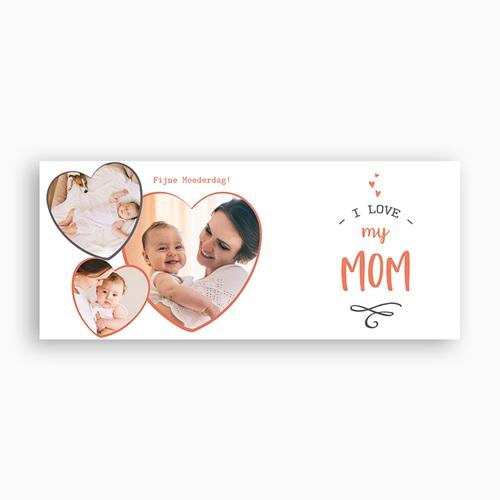 Gepersonaliseerde Fotomokken Moederdag Love my Mom, 3 foto's pas cher