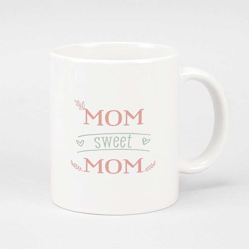 Gepersonaliseerde Fotomokken Moederdag Mom sweet MOM, 1 foto