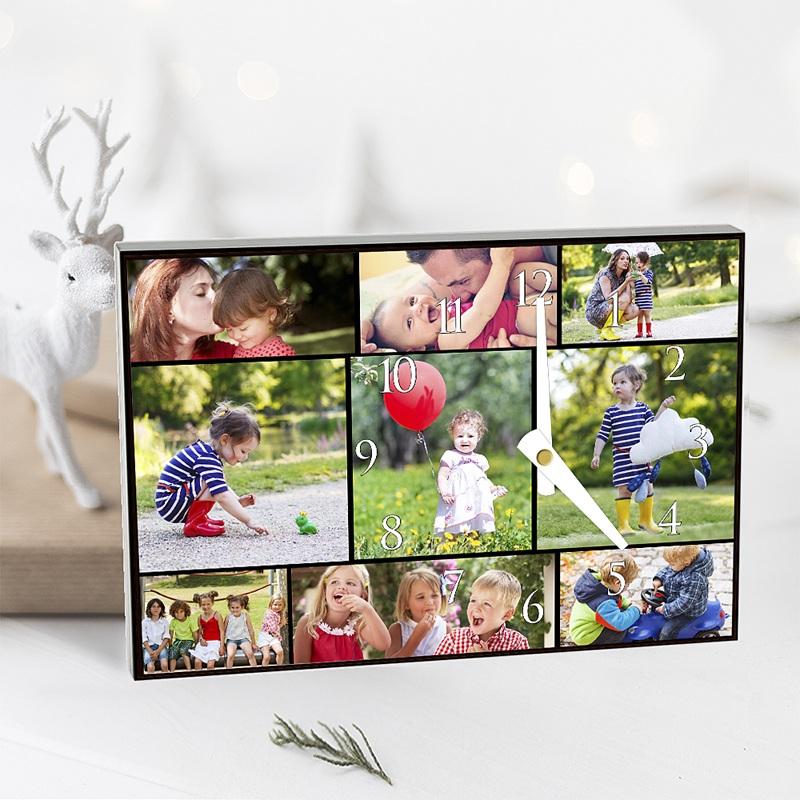 Gepersonaliseerde Fotoklok Multi-foto klok pas cher