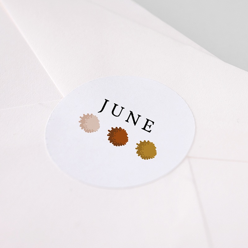 Sticker Geboorte Regenboog, 4,5 cm pas cher