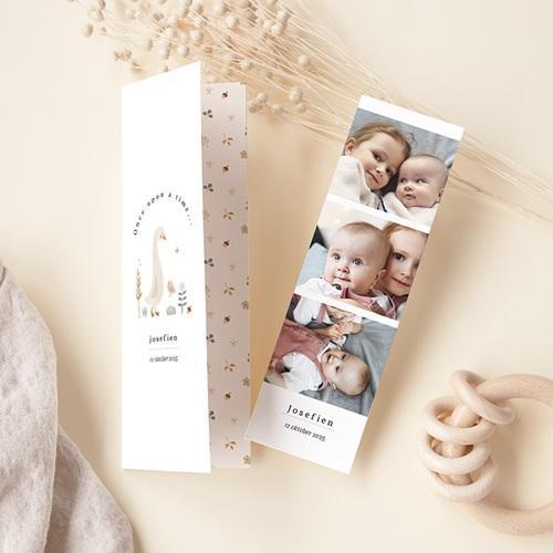 Geboortekaartjes met Bladwijzers Kleine herfstgans