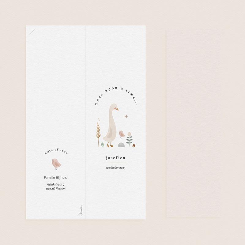 Geboortekaartjes met Bladwijzers Kleine herfstgans pas cher