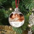 Gepersonaliseerde Kerstbal Mijn eerste kerst, foto, 7,5 cm, PVC