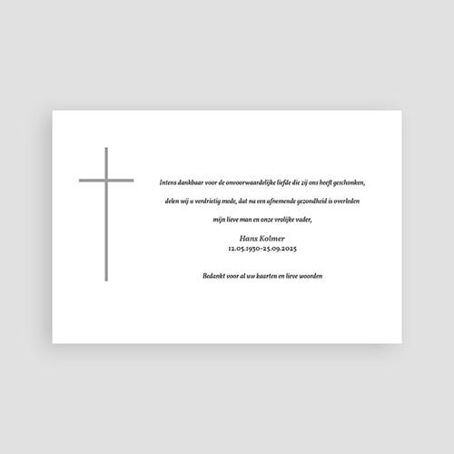 Christelijke Bedankkaartjes Overlijden Stilte in rouw pas cher