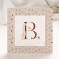 Geboortekaartjes Meisje Retro alfabet, natuur, roze beige