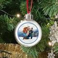 Gepersonaliseerde Kerstbal Winter Frost, foto, PVC