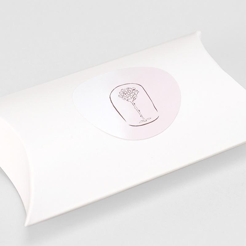 Sticker Geboorte Kleine prins en roos, sluitzegel gratuit