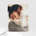 Bedankkaartjes Geboorte Meisje Moeder en kind, foto, line art