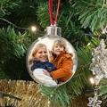 Gepersonaliseerde Kerstbal Sierlijke kerstbal met foto, Rainbow Wish, 7,5 cm