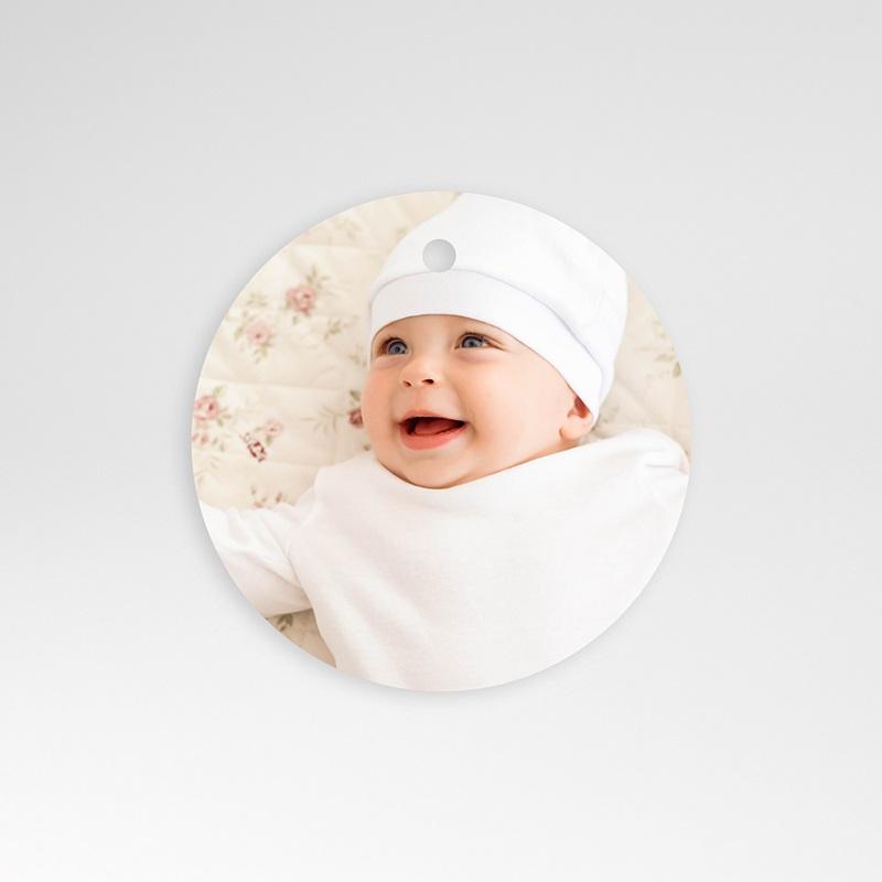 Geschenk Etiket Geboorte Poëzie in pastel, ronde hanger geperforeerd, 4,5 cm