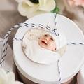 Geschenk Etiket Geboorte Poëzie in pastel, ronde hanger geperforeerd, 4,5 cm gratuit