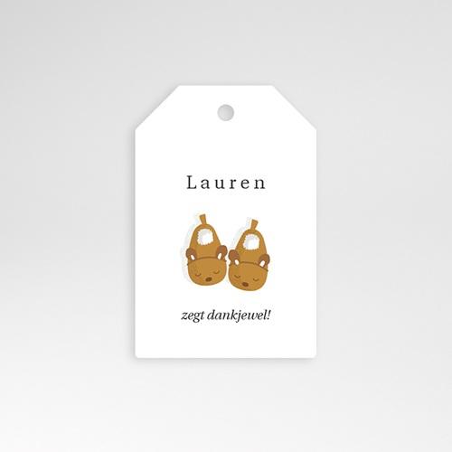 Geschenk Etiket Geboorte Babyslofjes meisje & foto, Cadeau