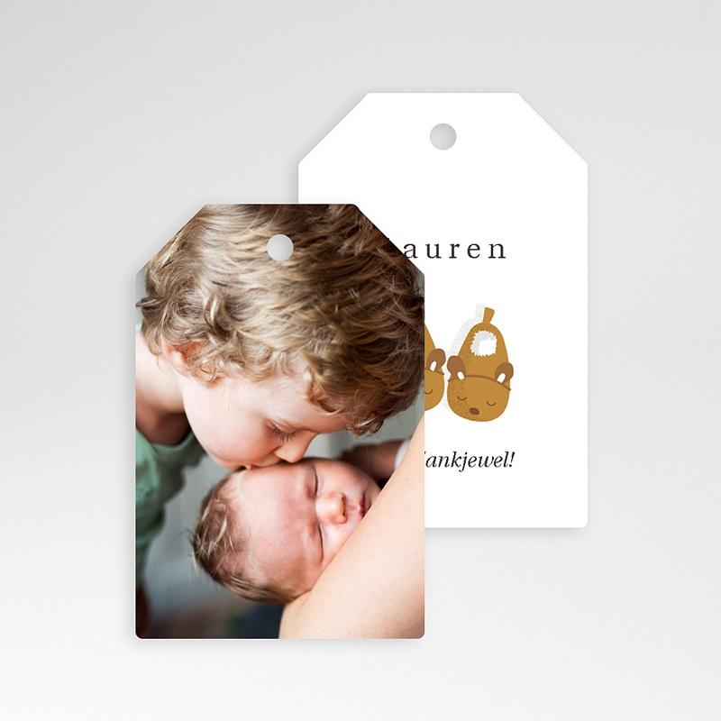 Geschenk Etiket Geboorte Babyslofjes meisje & foto, Cadeau pas cher