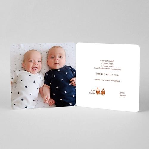 Geboortekaartjes Tweeling Die twee zijn een paar, pantoffels & foto's. pas cher