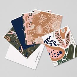 Stationery - Behangstijl, Vintage Jungle, Set van 12 - 0