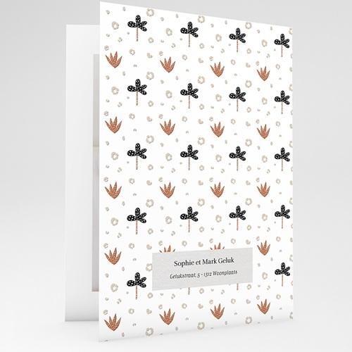 Geboortekaartjes met Dieren Kleine Winterbeer, Aloë Vera, dubbele kaart gratuit