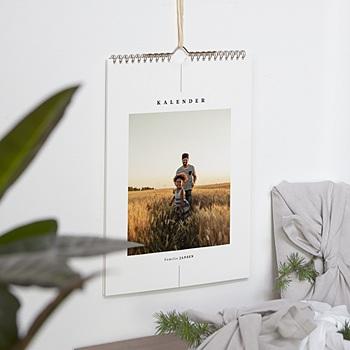 Natuurlijke muurkalender - Wandkalender, één foto per maand - 0