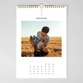 Natuurlijke muurkalender Wandkalender, één foto per maand