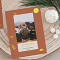 Kladblokjes Reissouvenir, oker & goud, A5 softcover