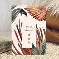 Elegante Trouwkaarten Palma Terracotta, Tropical chic, 15 x 21 cm