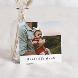 Bedankkaartjes Geboorte - Vos & De kleine Prins, foto, 10 x 10 cm - 0