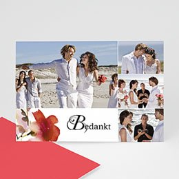 Bedankkaartjes Huwelijk Aquarelle