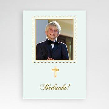 Bedankkaart communie jongen - Licht groene communie, zoon - 1