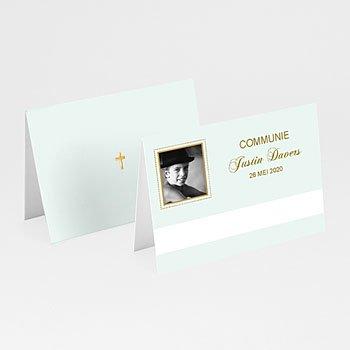 Plaatskaartjes Communie - Licht groene communie, zoon - 1