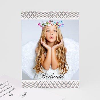 Bedankkaart communie meisje - Klavertje vier communie - 1