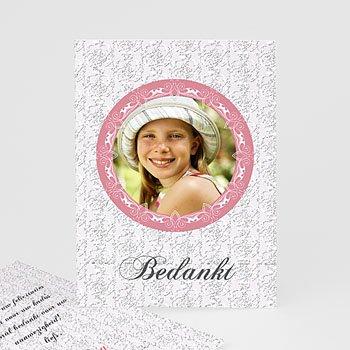 Bedankkaart communie meisje - Lief portretje - 1