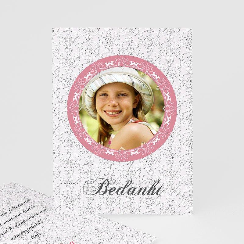 Bedankkaart communie meisje - Lief bedankje 9851 thumb