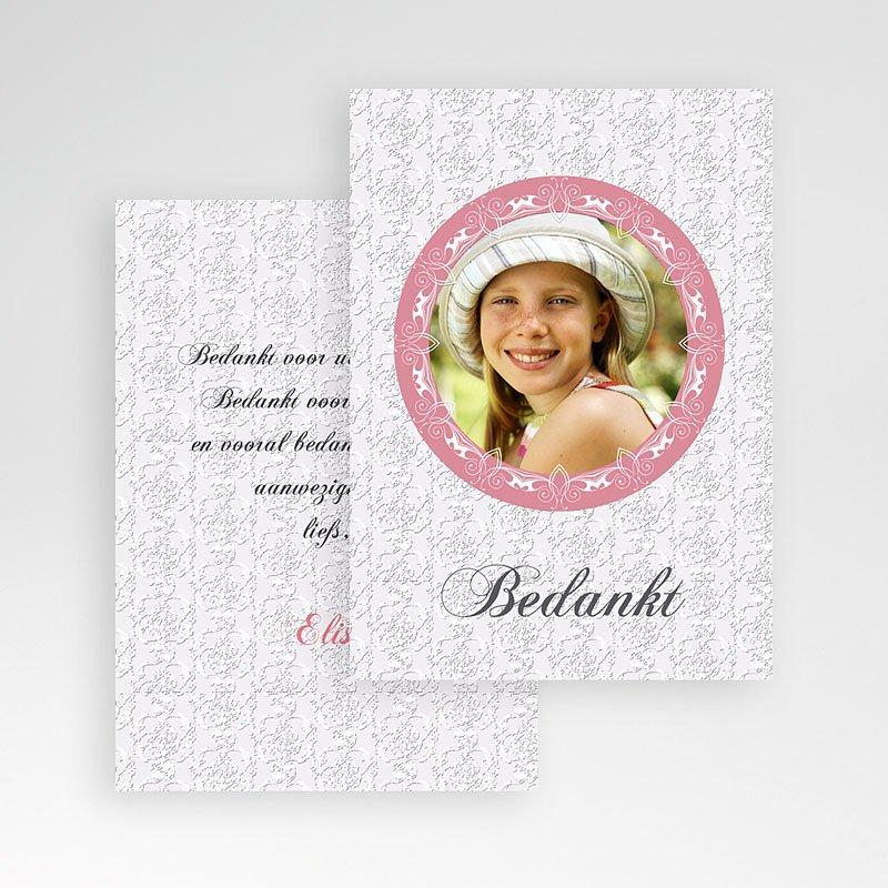 Bedankkaart communie meisje - Lief bedankje 9852 thumb