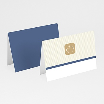 Plaatskaartjes Communie - Eigentijds beige - 1