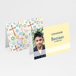 Plaatskaartjes Communie Tussen de symboliek