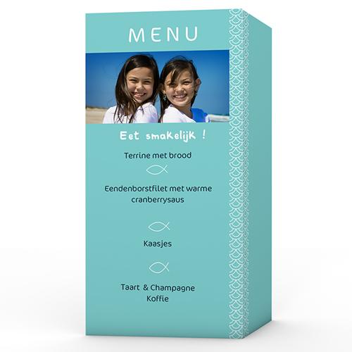 Menukaart communieviering - Als twee visjes 9895 thumb