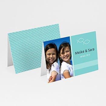 Plaatskaartjes Communie - Als twee visjes - 1