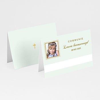 Plaatskaartjes Communie - Licht groene communie - 1
