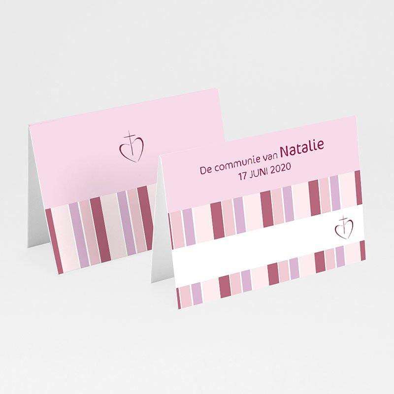 Plaatskaartjes Communie - Snoeproze communie 9917 thumb