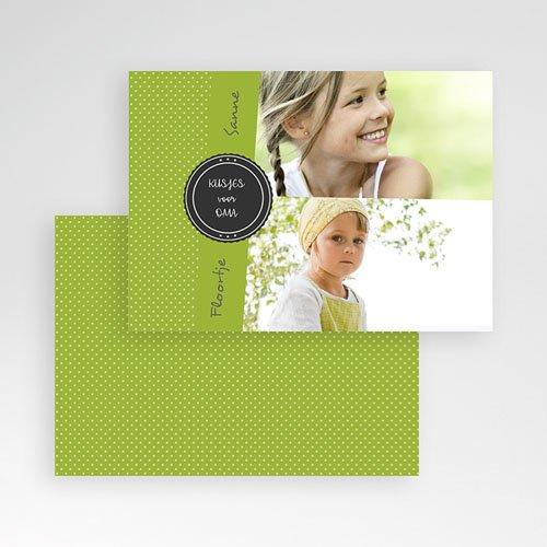 Fotokaarten met 2 foto's - Groen en witte stippen 9924 thumb