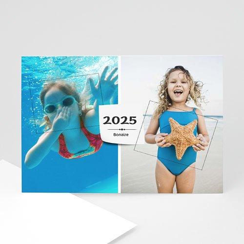 Fotokaarten met 2 foto's - vakantie groet met 2 foto's 9929 thumb