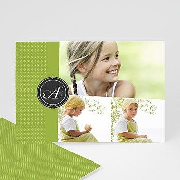 Multi fotokaarten, meerdere foto's - Anijsgroen met stipjes - 1