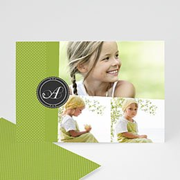 Multi fotokaarten, meerdere foto's Anijsgroen met stipjes