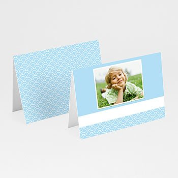 Plaatskaartjes Communie - Communieviering lichtblauw - 1