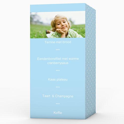 Menukaart communieviering - Communieviering lichtblauw 9961 thumb