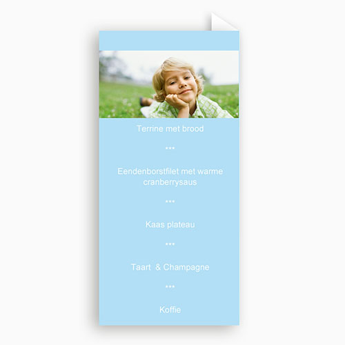 Menukaart communieviering - Communieviering lichtblauw 9962 thumb